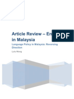 Article Review - English in Malaysia v2