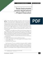 Organization Structure Texas Instruments
