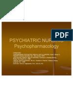 Psychiatric Nursing - Psycho Pharmacology
