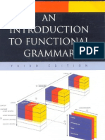 an Introduction to Functional Grammar Rd Ed 2004