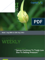 Agri Commodity Reports for the Week (8th - 12th August '11)