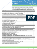 Checklist for Above Ground Tanks-queensland