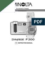 Dimage F200 Manual ENG