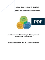 Blokboek Minor MVO 2009-2010