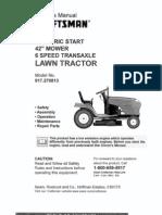 Craftsman tractor 917-270813 L0809578