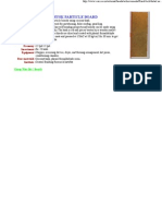 Coconut Husk Particle Board