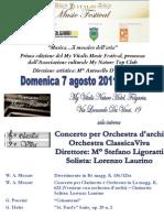 Locandina Concerto Folgaria 7 Agosto 2011