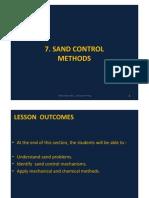 7. Sand Control Methods
