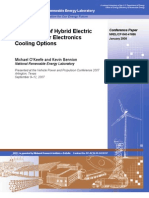 Comparison of Hybrid Electric Vehicle Power Electronics Cooling Options