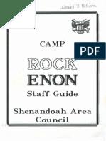 1993 Camp Rock Enon Staff Guide