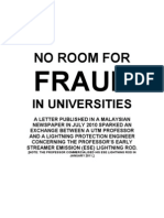 No Room for Fraud in Universities