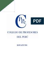 estatuto colegio de profesores del Peru- Profesor  Jose de la Rosa Vidal afiliado---capacitacion empresarial computacionl