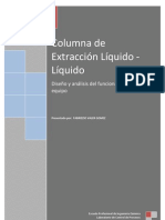 Columna de Extraccion Liquido. Parte I