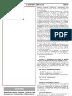 20110716 DS 006-2011-VIVIENDA Modifica 4 Normas técnicas del RNE