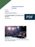 La Ecologia Meditica y Las Noticias Como Espectculo Televisivo