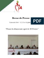 Revue de presse- Université d'été de CAPDEMA 2011