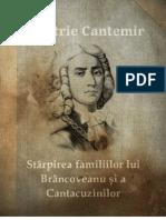 Starpirea familiilor lui Brancoveanu si a Cantacuzinilor - Dimitrie Cantemir