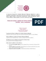 Invitación a Conferencias Planes de manejo y gestión