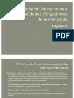 Evaluación de los recursos y las capacidades competitivas