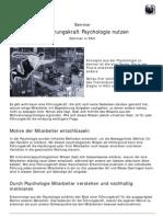 Als Führungskraft Psychologie nutzen - Seminar in Köln