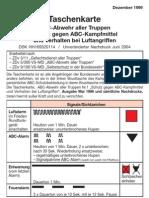 47 Taschenkarte ABC Abwehr Aller Truppen
