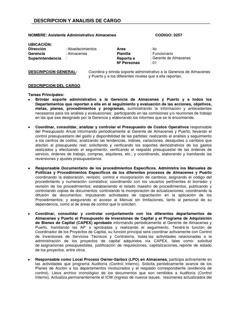 Perfecto Gerente De Almacén Reanudar Objetivo Componente - Ejemplo ...