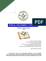 Plancha n.00571 - Biblia Escuadra y Compas