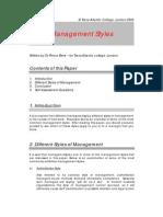 Bsup Management Styles, Bayelsa.org.Uk