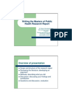 Writing Your Research Report