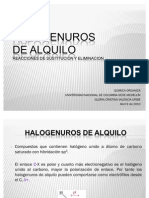 Sustitución y eliminación en halogenuros de alquilo