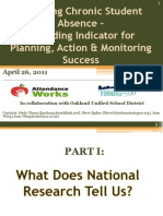Reducing Chronic Student Absence – A Leading Indicator for Planning, Action & Monitoring Success - April 26, 2011