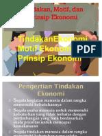 Tindakan, Motif, Dan Prinsip Ekonomi