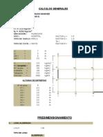 Pre Dimension a Mien To, Metrados y Rigideces -HOSPITAL 8 PISOS
