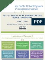 GPPSS Financial Series_2011_12 Budget Proposal_Final