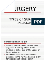 SURGERY.incisions