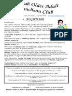 Newsletter 8-1-11