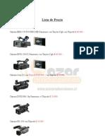 LISTA de PRECIOS 2011 - Arriendo de Equipos Audiovisuales