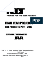 2010 Java Software Final Year IEEE Project Titles - 2011-2012