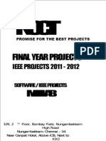 2011 Matlab Project Titles - Software Final Year IEEE Projects - 2011-2012