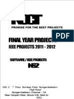 2011 NS2 Project Titles - Software Final Year IEEE Projects - 2011-2012