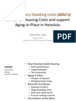 How Accessory Dwelling Units (ADU's) can Lower Housing Costs and Support Aging in Place in Honolulu