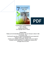 7 Ancient Keys to Happiness a 90 Day Guide to Achieving Inner Bliss