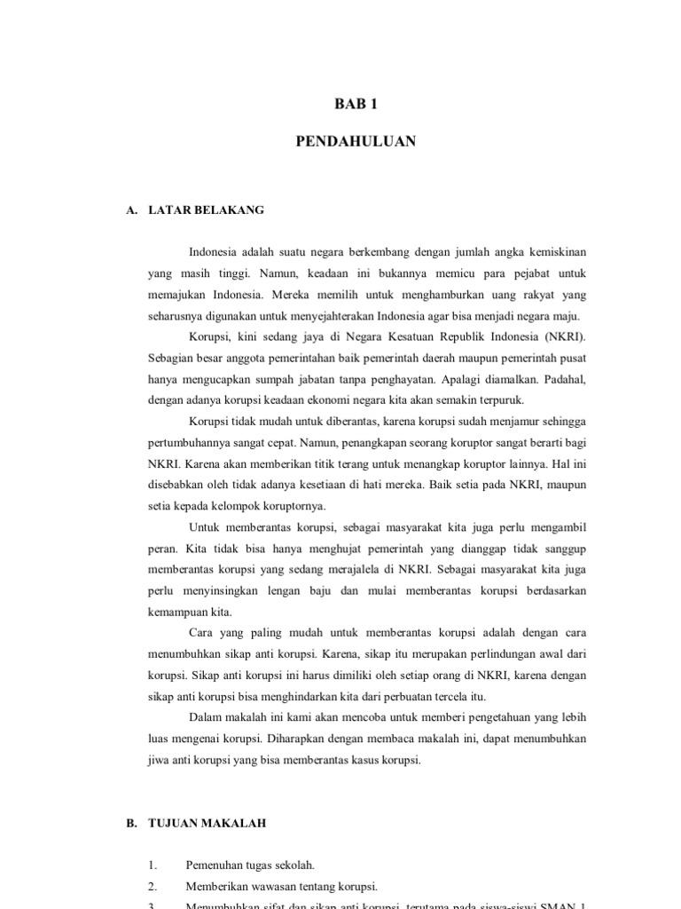 Makalah Kwn Tindak Pidana Korupsi