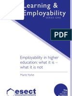 Employ Ability in Higher Education What It is, What It is Not