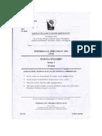 Percubaan UPSR 2011 - Bahasa Inggeris ( Terengganu ) Kertas 1