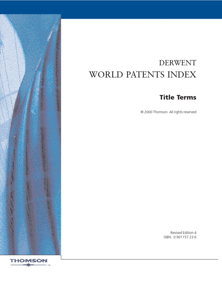 World Patent Index Chemical Elements Polymers
