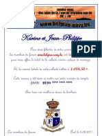 lettre remise à Karine et Jean-Philippe le 6 août 2011