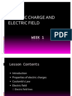 Week 1 - Electric Charge and Field
