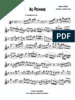 Parker Au Privave Solo for Flute
