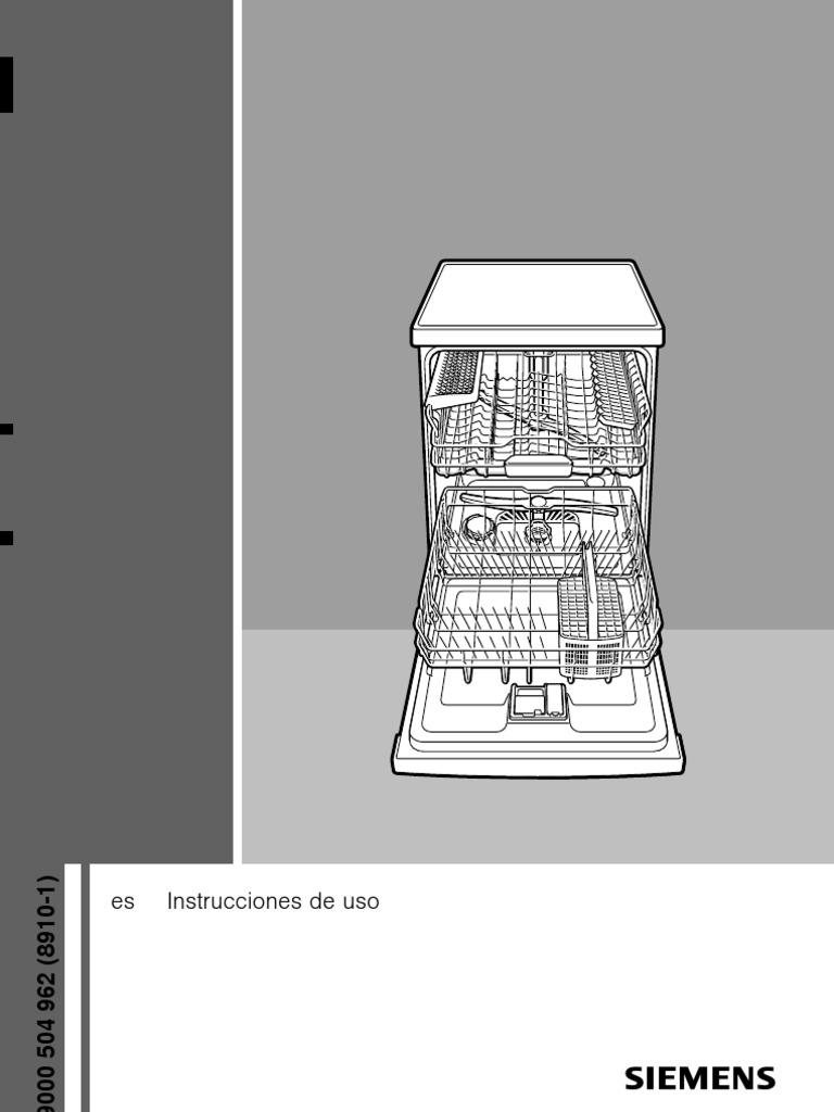 manual lavavajillas siemens. Black Bedroom Furniture Sets. Home Design Ideas